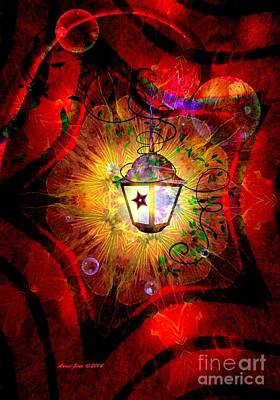Photograph - Christmas Lantern And Christmas Star by Annie Zeno