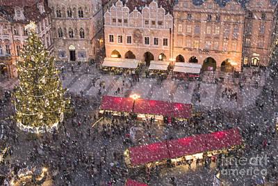 Czech Republic Photograph - Christmas Market In Prague by Juli Scalzi