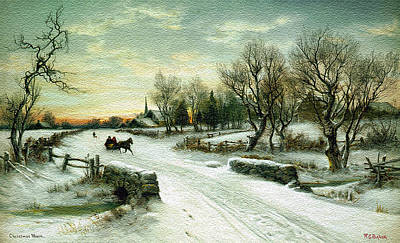 Christmas Morn Textured Print by Aimee L Maher Photography and Art Visit ALMGallerydotcom