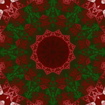 Abstract Digital Art - Christmas Quilt by Ruth Moratz