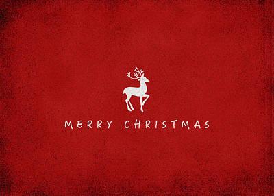 Deer Digital Art - Christmas Series Christmas Deer by Kathleen Wong