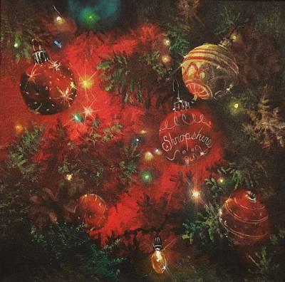Christmas Sparkle Print by Tom Shropshire