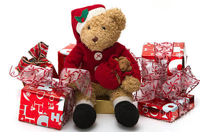 Teddybear Photograph - Christmas Time by Louise Heusinkveld