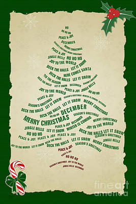 Christmas Tree Thoughts Print by Bedros Awak