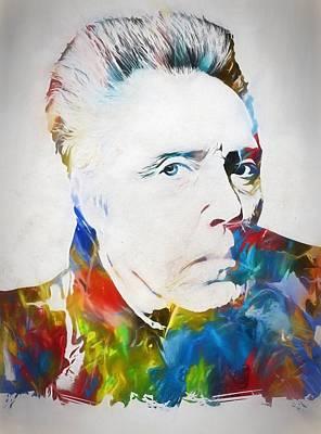 Christopher Walken Print by Dan Sproul