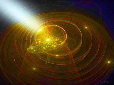 Christopher's Vision Of Golden Light Original by Michael Durst