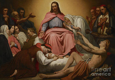 Liberated Painting - Christus Consolator by Ary Scheffer