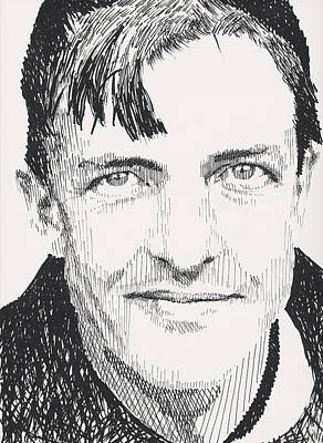 Mlb Hall Of Fame Drawing - Christy Mathewson by Robbi  Musser