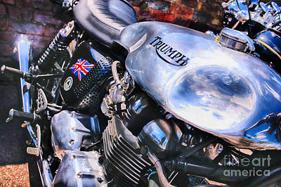 Chromed Cafe Racer Print by Tim Gainey