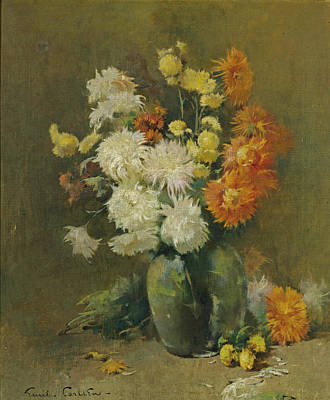 Painting - Chrysanthemums by Emil Carlsen