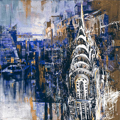 Chrysler Building Painting - Chrysler Building 205 4  by Mawra Tahreem