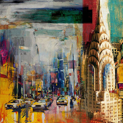 Chrysler Building Painting - Chrysler Building 206 1  by Mawra Tahreem