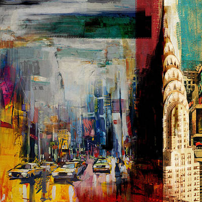 Chrysler Building Painting - Chrysler Building 206 2 by Mawra Tahreem