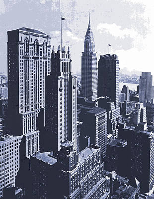 Chrysler Building Mixed Media - Chrysler Building by Malcolm  Watson