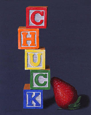 Manikins Painting - Chuck Berry by Tom Swearingen