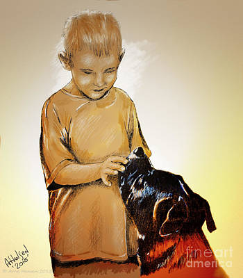Chuey And Me II Print by Arne Hansen