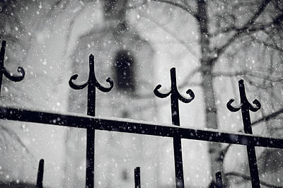 Photograph - Church Fence. Snowy Days In Moscow by Jenny Rainbow