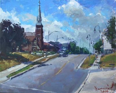 Town Painting - Church In Georgetown Downtown  by Ylli Haruni