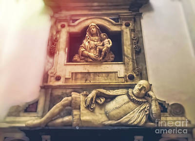Mother Mary Photograph - Church Interior by HD Connelly