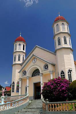 Church Of San Rafael In Zarcero Costa Rica At Park Francisco Alv Print by Reimar Gaertner