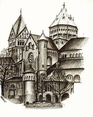 Church Of St. Anna Munich Original by Karina Plachetka