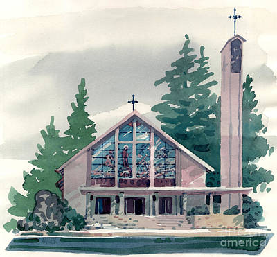 Belmont Painting - Church Of The Immaculate Heart Of Mary by Donald Maier