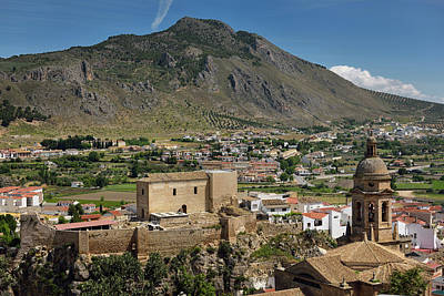 Church Of The Incarnation Belfry And Moorish Alcazaba Fortress U Print by Reimar Gaertner