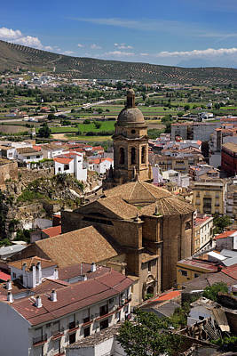 Spain Photograph - Church Of The Incarnation With Alcazaba Ruins In Fertile Genil R by Reimar Gaertner