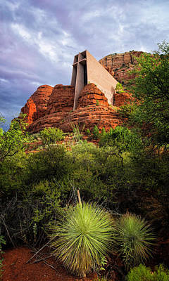 Photograph - Church Of The Red Rocks by Ron McGinnis