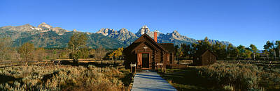 House Of Worship Photograph - Church Of Transfiguration, Grand Teton by Panoramic Images