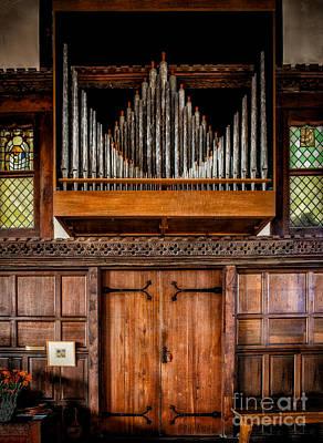 Church Organ Print by Adrian Evans