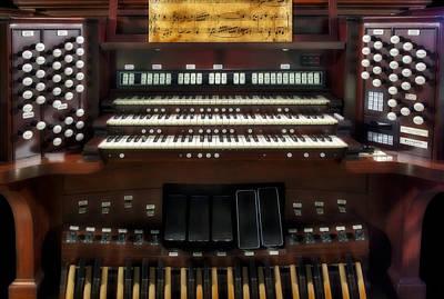 Piano Photograph - Church Pipe Organ by Susan Candelario
