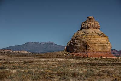 Holes In Sandstone Photograph - Church Rock Utah by Paul Freidlund