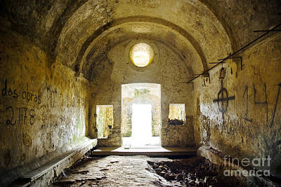 Dungeon Photograph - Church Ruin by Carlos Caetano