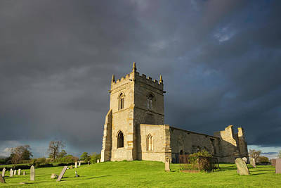 Midland Cemetery Photograph - Church Ruins At Cropwell Bishop by Wendy Chapman
