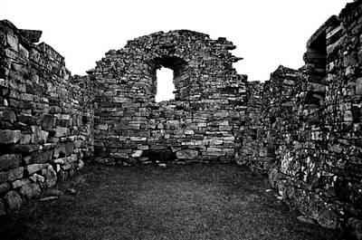Church Ruins Hvalsey Print by Juergen Weiss