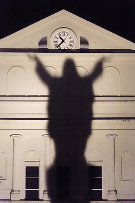 Spiritual Being Photograph - Church Shadow by Garry Gay