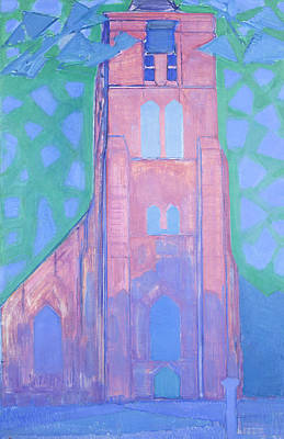 Zeeland Painting - Church Tower In Zeeland by Piet Mondrian
