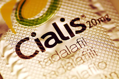 Medicines Photograph - Cialis Packaging by Pasieka