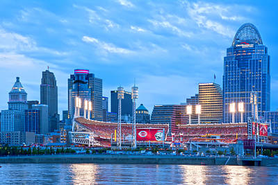 Cincinnati All Star Game  Print by Randall Branham