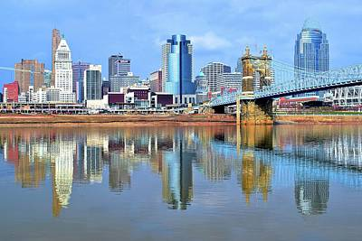 Cincinnati Ohio Times Two Print by Frozen in Time Fine Art Photography