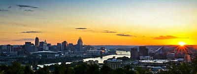 Cincinnati Sunrise II Print by Keith Allen
