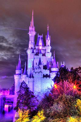 Magic Kingdom Photograph - Cinderella's Castle Winter by Rachel Crozier
