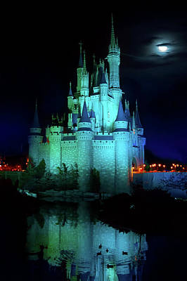Cinderella Castle Reflection Print by Mark Andrew Thomas