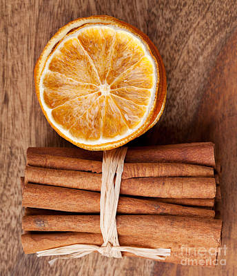 Citrus Photograph - Cinnamon And Orange by Nailia Schwarz