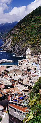 Cinque Terra Town Of Vernazza Print by Jeremy Woodhouse