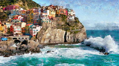 Waves Photograph - Cinque Terre - Italy by Russ Harris