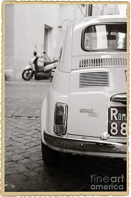 Cinquecento Black And White Print by Stefano Senise
