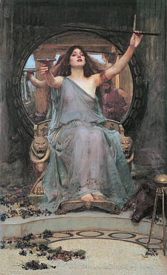 Circe Offering The Cup To Odysseus Print by John William Waterhouse