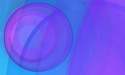 Nature Digital Art - Circle Blue Mist 4 by Alberto RuiZ
